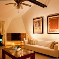 Lounge - night - Breathing Space Retreats - breathguru