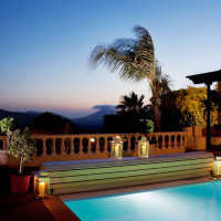 The villa - night - Breathing Space Retreats - breathguru