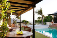 The villa - pool view - Breathing Space Retreats - breathguru